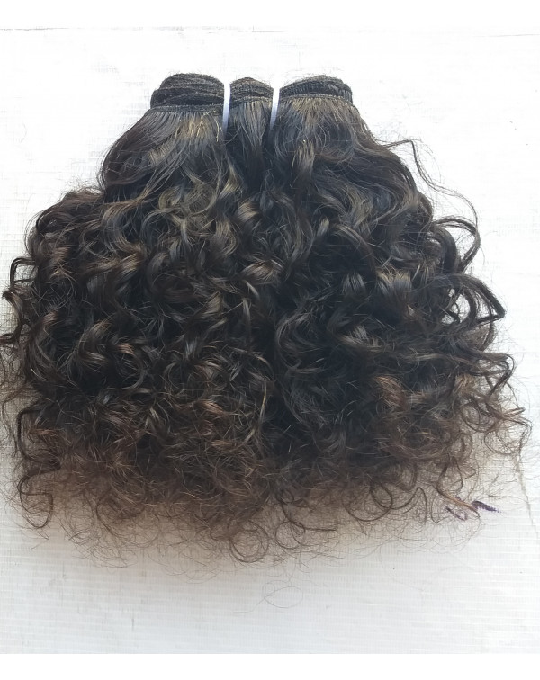 Raw Unprocessed Curly Human Hair Extensions