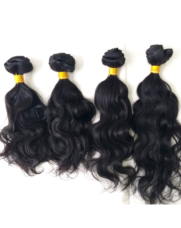 VIRGIN WAVY HUMAN HAIR EXTENSIONS