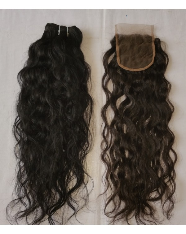 Natural Curly Human Hair Lace Closure