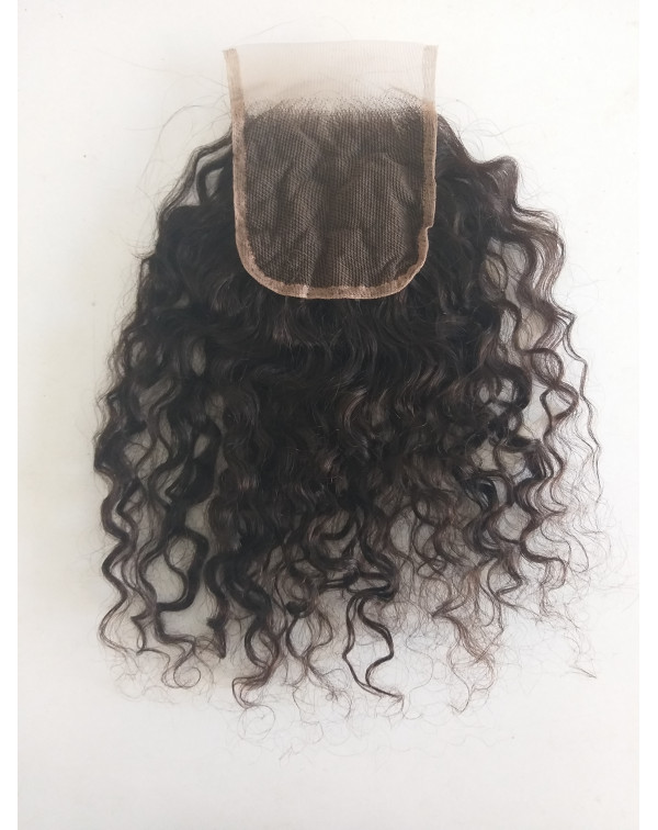 Unprocessed Curly Lace Closure Hair Extension