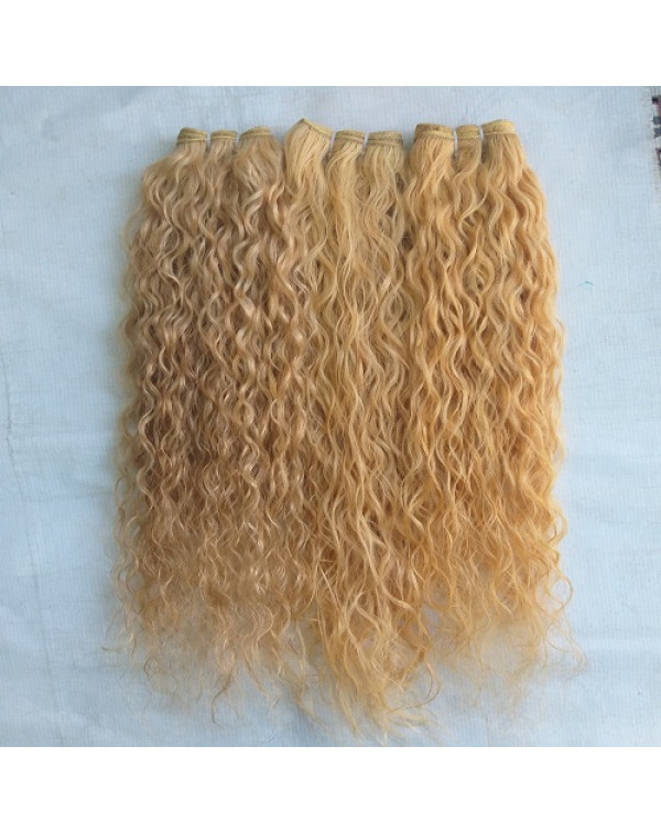 Blonde Wavy Hair Extensions