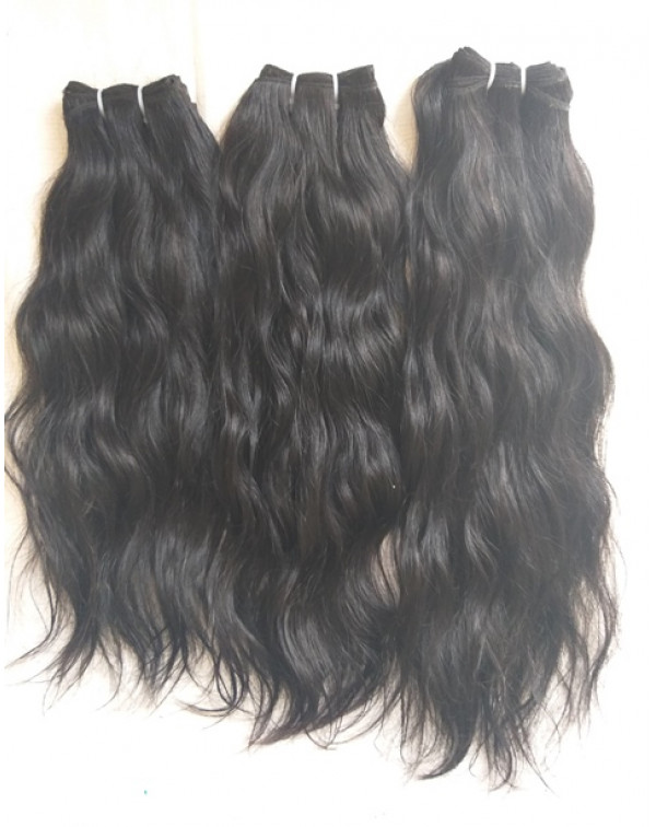 Natural Black Wavy Virgin Human Hair
