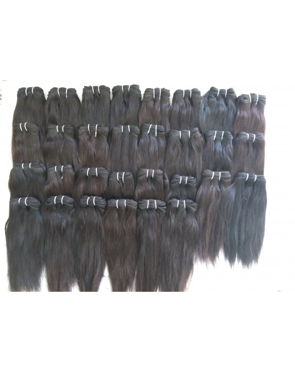 Raw Remy Straight Human Hair Extensions