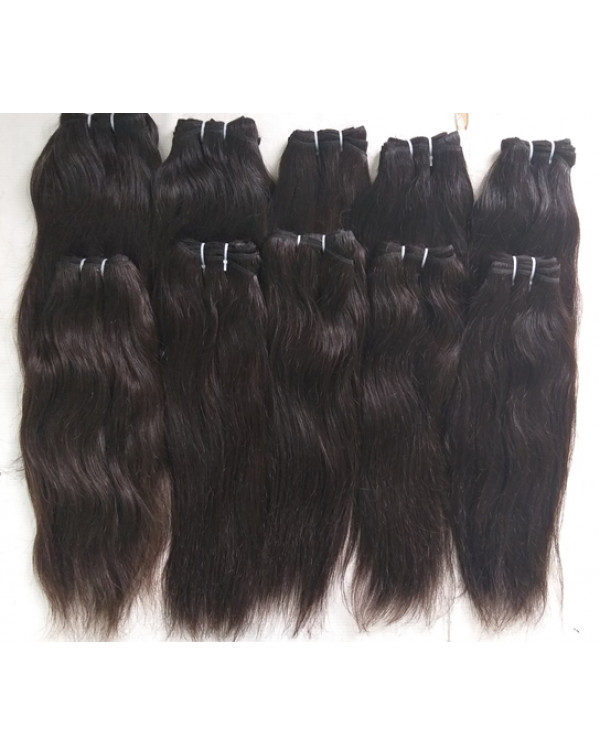 Natural Colored Temple Straight Hair