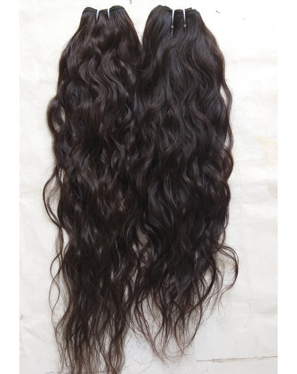 Raw Wavy Human Hair Extensions