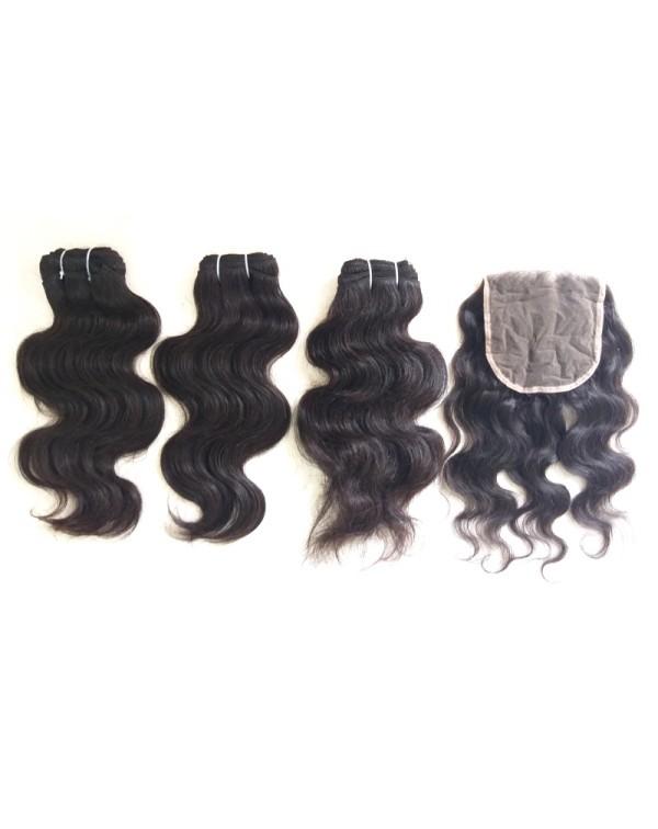 Peruvian Body Wave Human Hair Extensions...