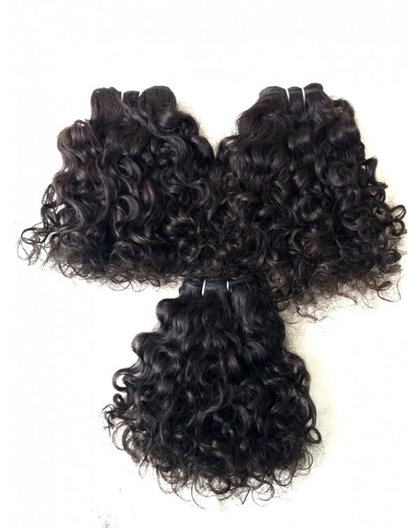 Natural Curly Human Hair Extensions