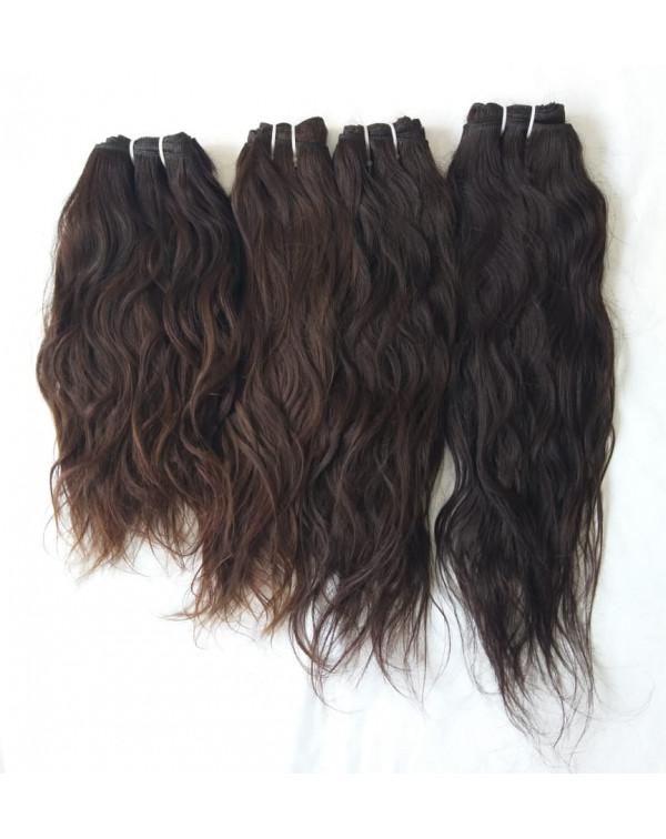 NATURAL WAVY HUMAN HAIR EXTENSIONS