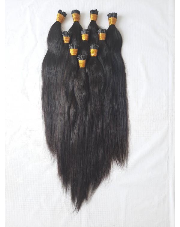 Keratin Natural Straight I-Tip Hair Extensions