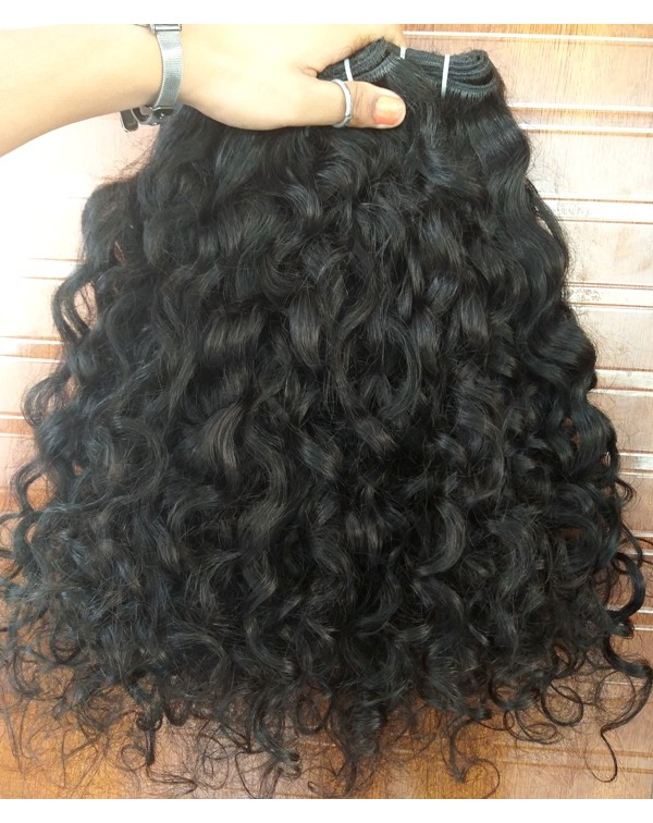 Cuticle Aligned Curly Human Hair Extensions