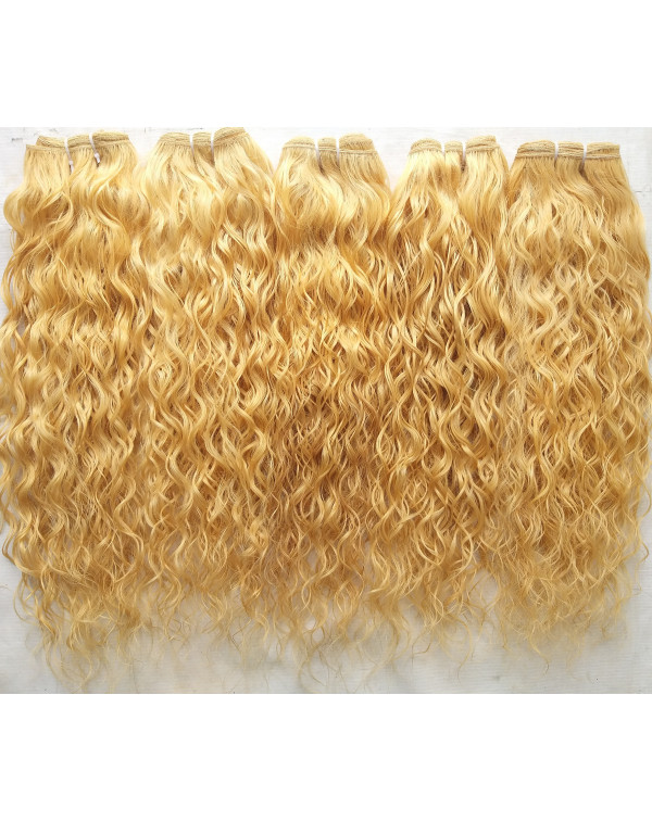 Blonde Wavy Hair Extensions