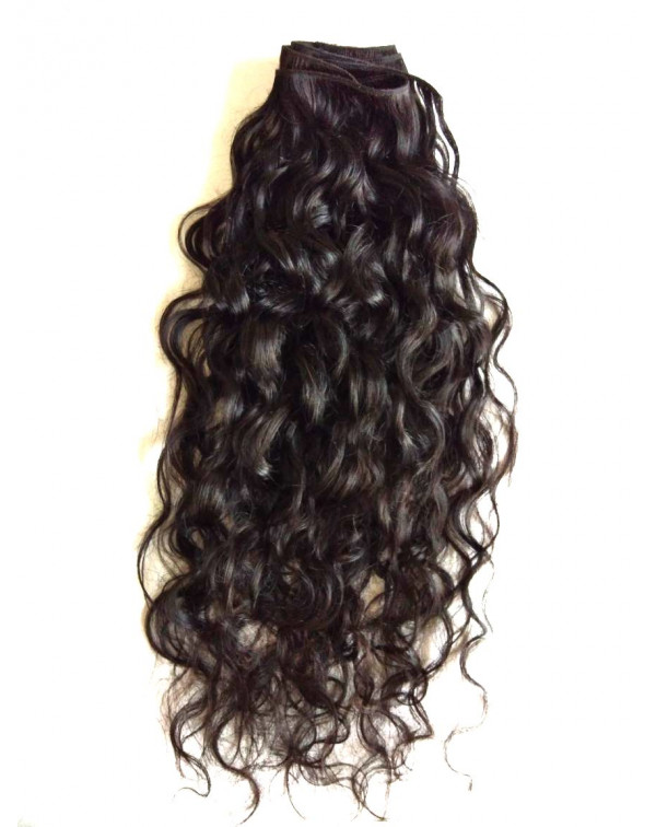 Indian Natural Curly Human Hair Extensio...