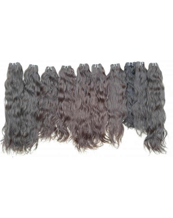 Hair Extensions  Raw Wavy Virgin Human H...