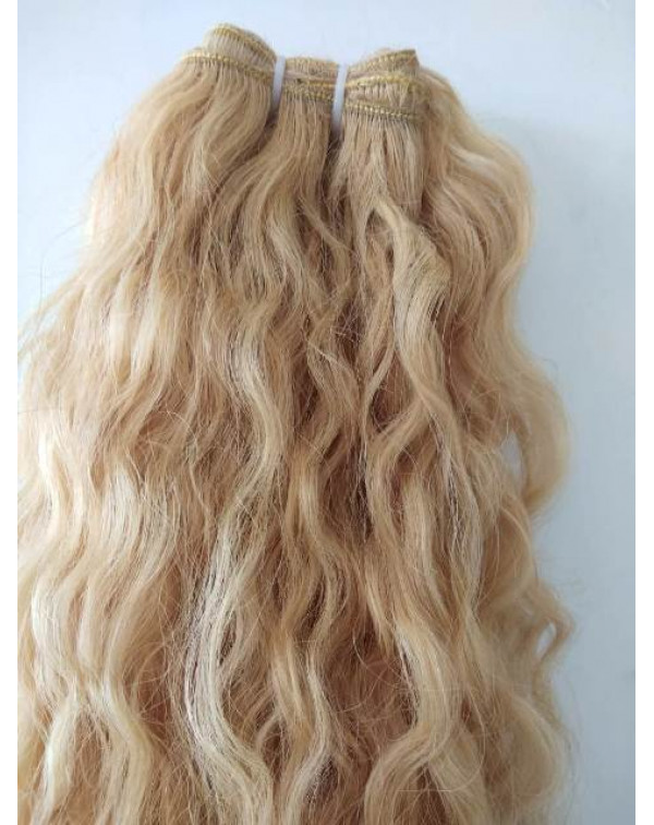 Blonde Wavy Human Hair Extensions