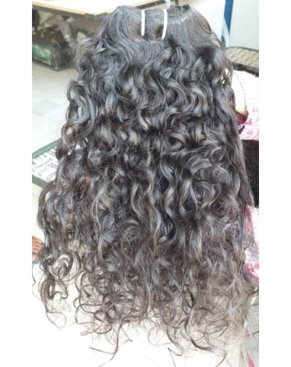 Curly Raw unprocessed Virgin One donor w...