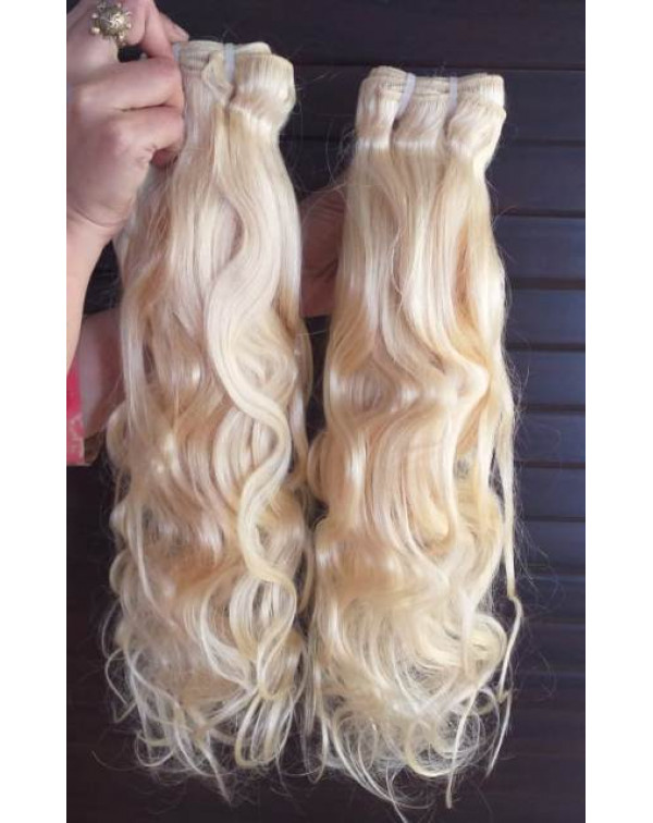 Blonde Body Wave Virgin Human Hair Wefts