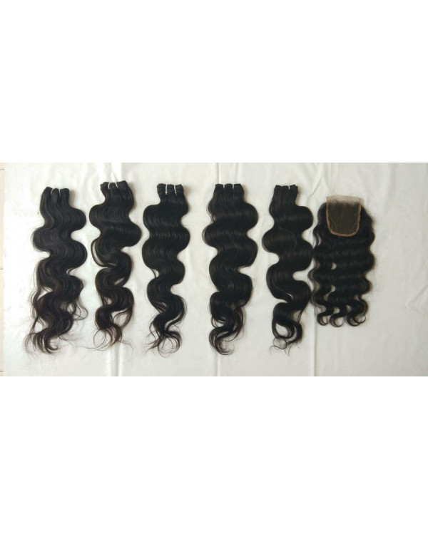 VIRGIN BODY WAVE HAIR  EXTENSIONS