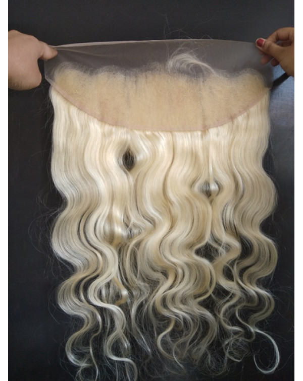 Processed Blond Wavy Frontal