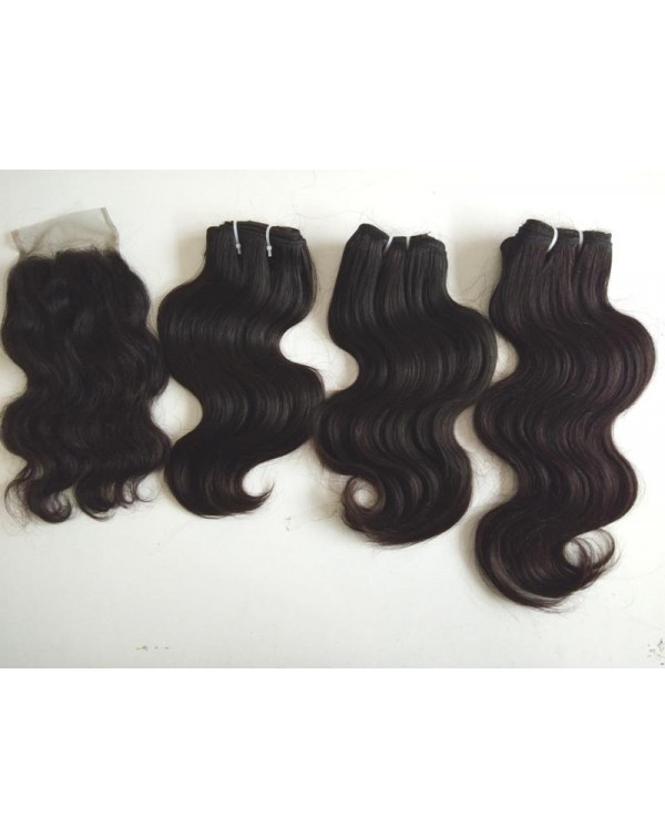 Natural body wave hair