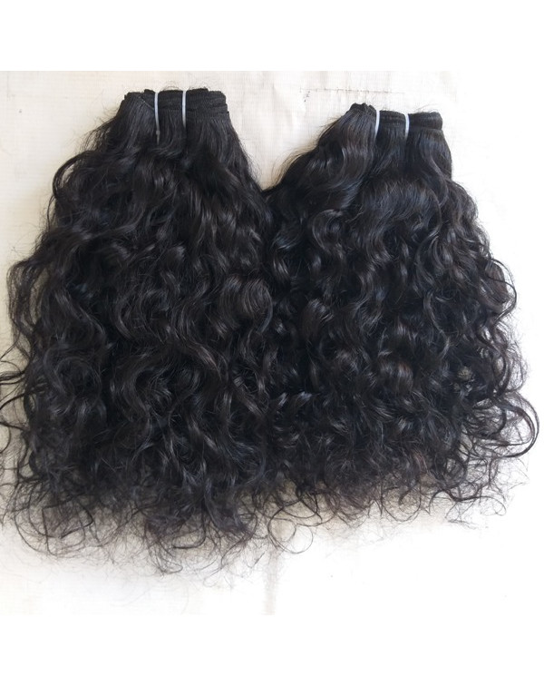 Indian Natural Curly Human Hair Extensions