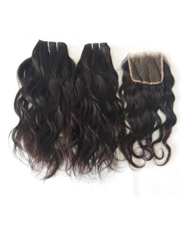 Natural Wavy Hair And Closure
