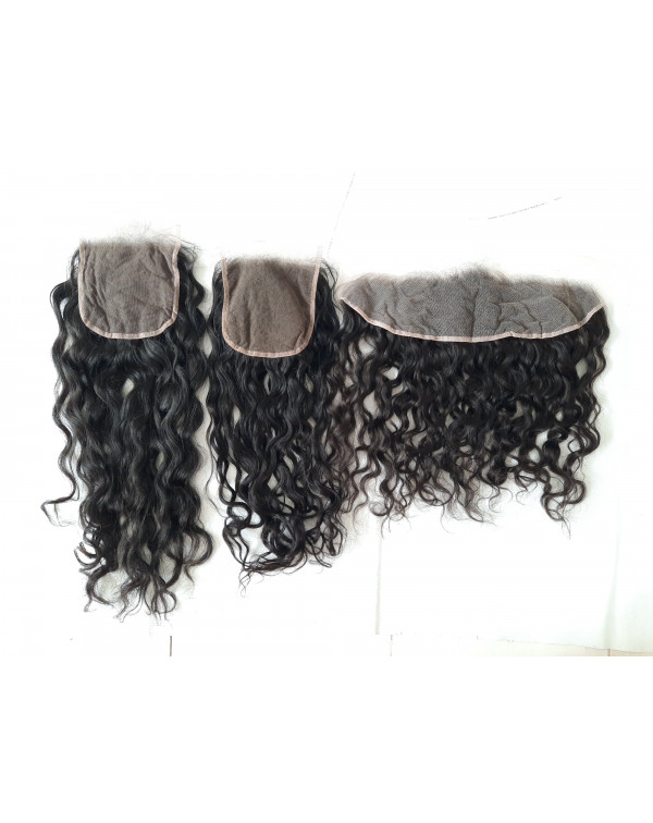 Raw Unprocessed Curly Hair Frontal and Closures